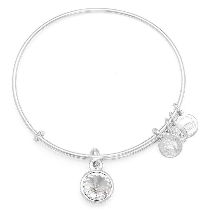 I want a collection of these. This one for Dewey. April Birthstone Charm Bracelet   Alex and Ani