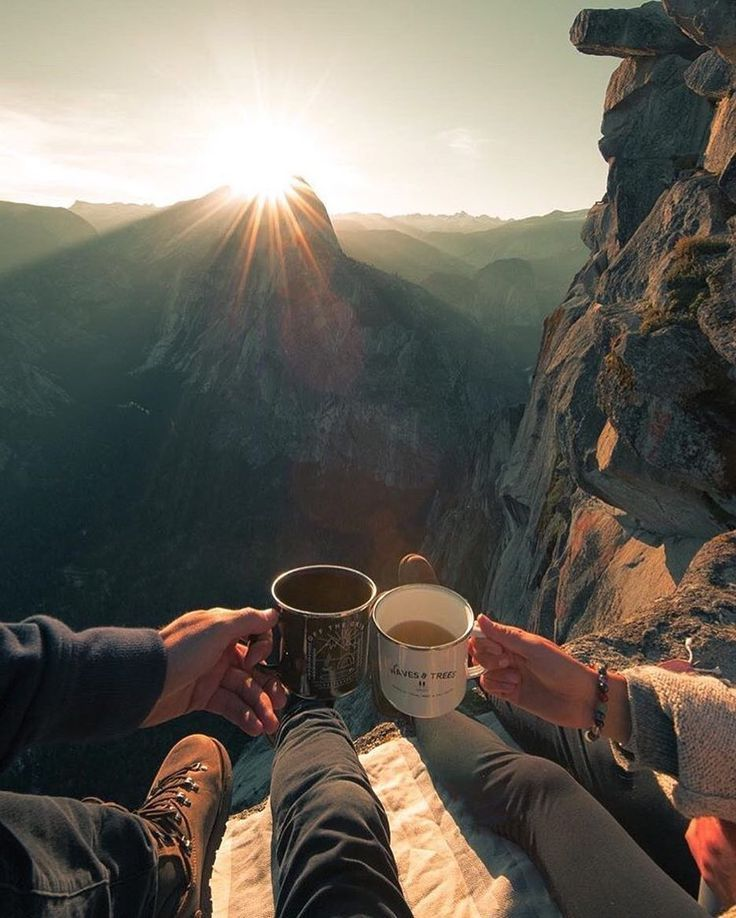 Awesome View Coffee Outdoors With