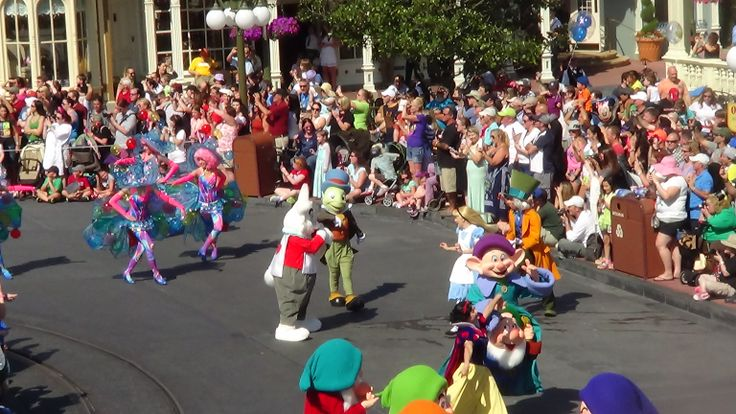 #FestivalofFantasyParade #MagicKingdom Only at Magic Kingdom's Festival of Fantasy Parade can you see Alice, the Mad Hatter, Jiminy Cricket, and Snow White and Seven Dwarves dance and sing together!
