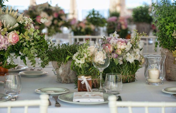 Romantic Flower Filled Tuscan Wedding Wedding Flower Decorations