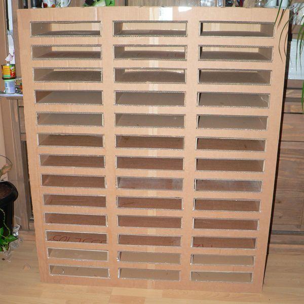 Ranger les papiers 30x30  un meuble en carton boite Pinterest