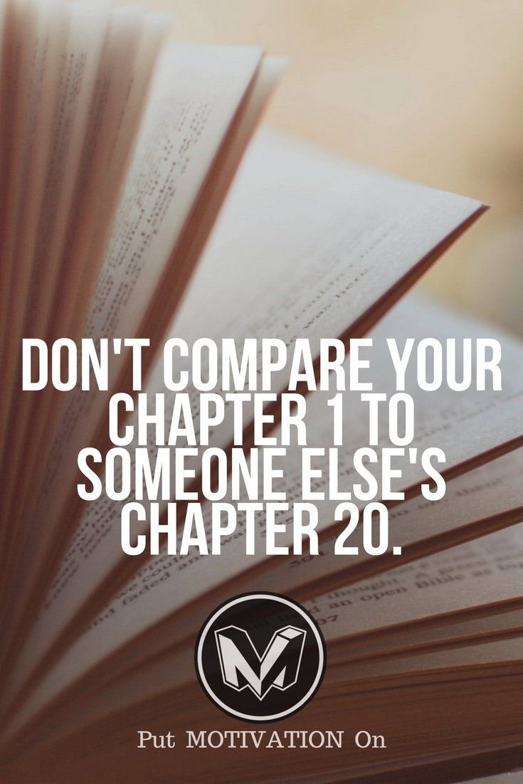 Don't compare and enjoy the process.
