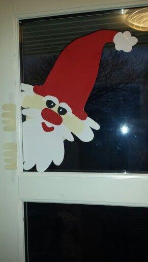 Santa looking in