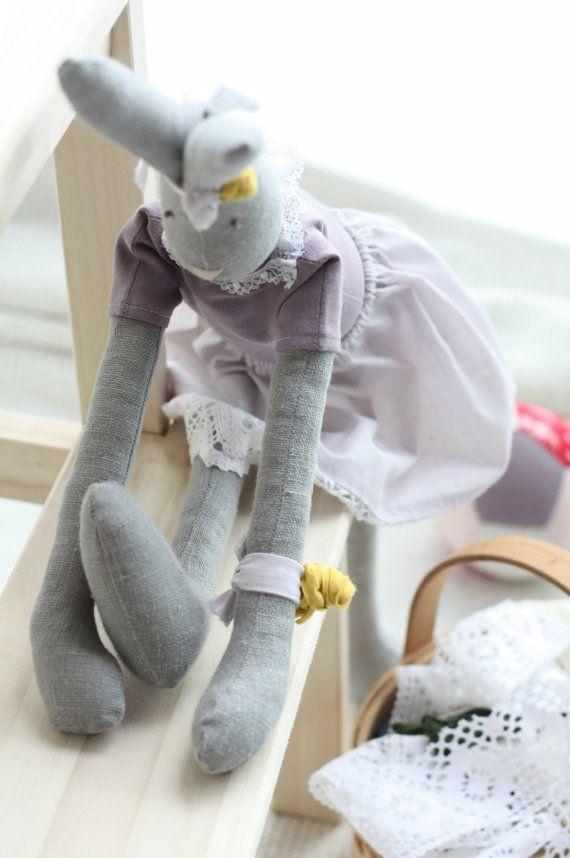Stuffed cute ballerina bunny doll Handmade by dearblueberryshop, €30.00