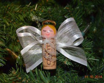Glamorous Wine Cork Angels von NoribeesCrafties auf Etsy