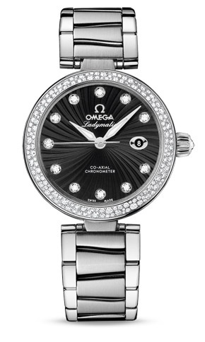 OMG - saw this in the window of the Omega shop at Bellagio last night.  The most beautiful thing I'd ever seen - like it even better with the plain bezel (no diamonds on the outside).