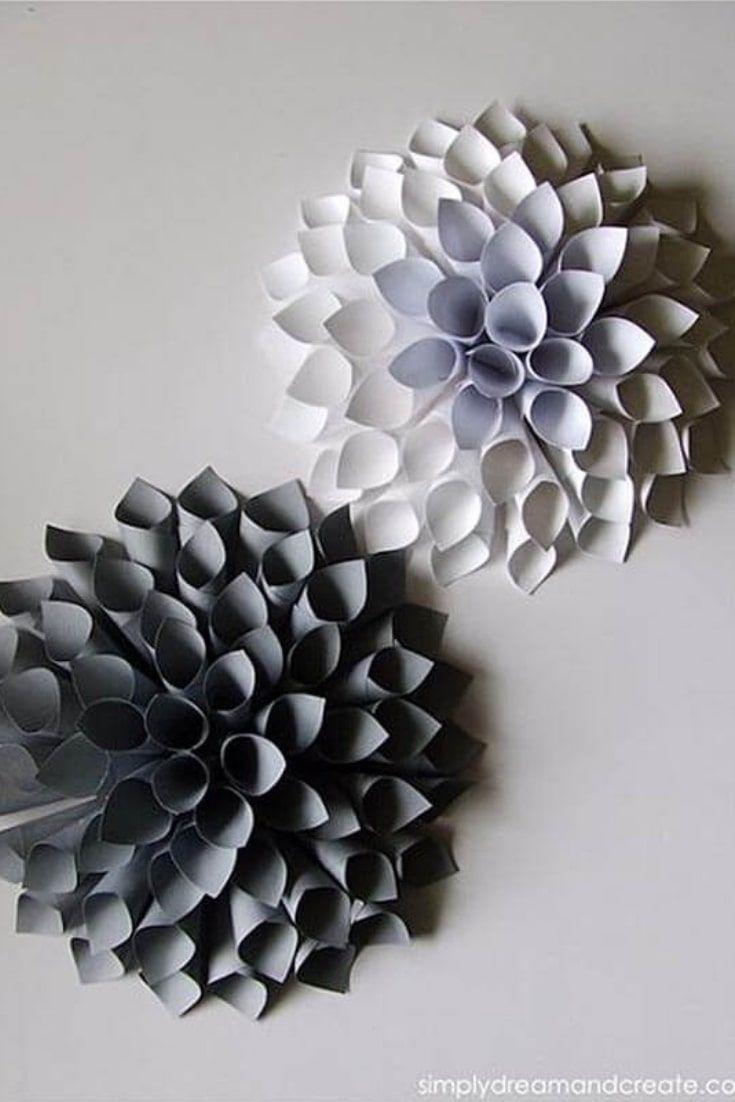 Awesome Diy Wall Art Ideas Wall Art Diy Easy Paper Dahlia Diy Christmas Wall