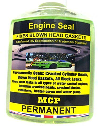 STEEL SEAL HEAD GASKET SEALER ,MCP, REPAIRS BLOWN HEAD GASKET & ENGINE BLOCKS,,USING ALL AUTOMOTIVE MANUFACTURES,,,Engine Seal ,MCP,,Confirmed UK Examination of Trademark Standard ,ENGINE SEAL WRAPPED BLOWN HEAD GASKETS & ENGINE BLOCKS,,,DIESEL & PETROL,,,Engine Seal, fixes most leaks in all types of water cooled engine including cracked heads, head gasket failures, cracked blocks, radiators, heater cores and water pumps.