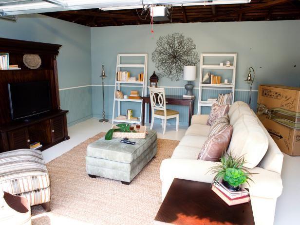 Blue garage living space42 best Garage Space Design images on Pinterest   Garage ideas  . Garage Living Room. Home Design Ideas