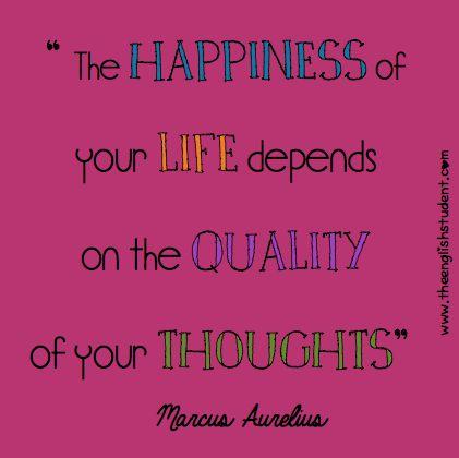 happiness quotes, life quotes, ESL, ESL vocabulary