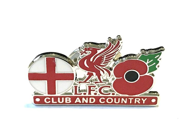 Liverpool FC Club and Country Poppy Badge