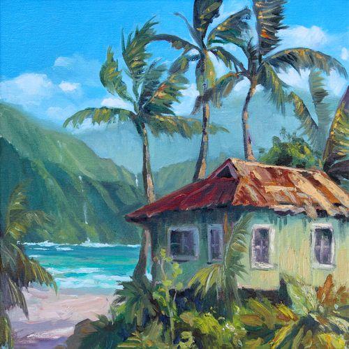 Hawaii Painting, Surf Art, Caribbean Art