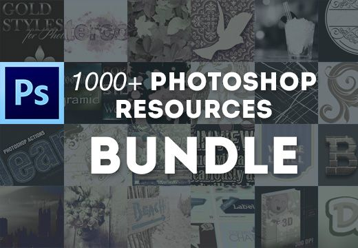 1000+ Photoshop Resources Bundle with Extended License – Just $59 List Price: 	$1,522.00 Our Price: 	$59.00 You Save: 	$1,463.00 (96%)