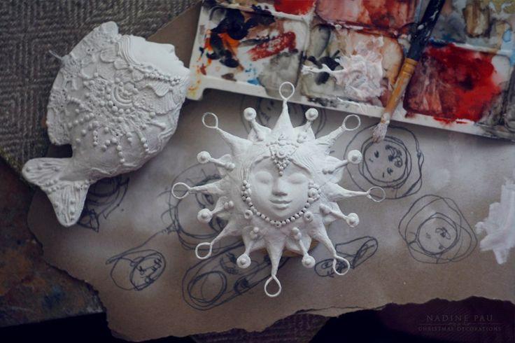 Paperclay/papermache by Nadine Pau. #nadinepau