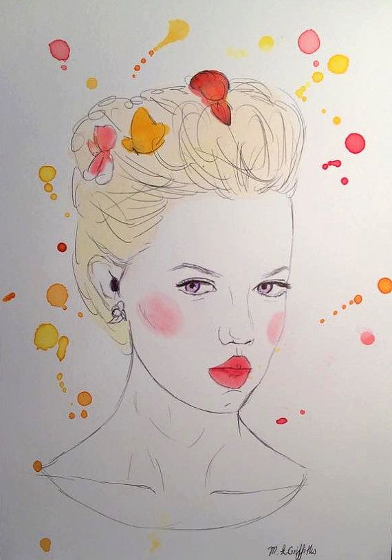 Felice  Original Watercolour Painting by Madison by PoppingMouse