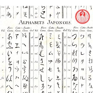 how to write english alphabets in japanese language