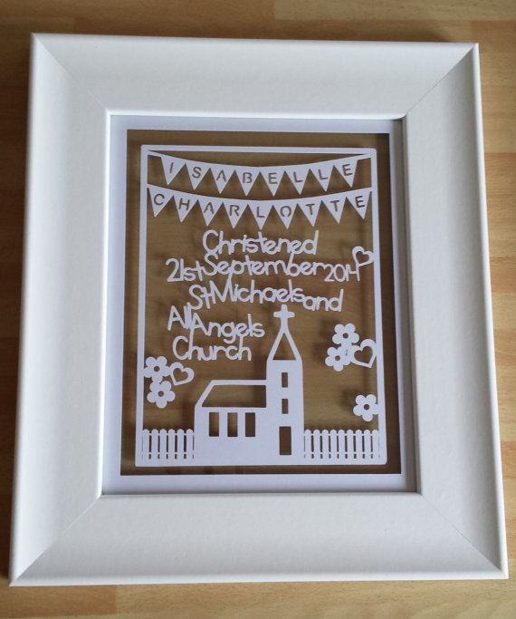 Framed Personlised Baby Boy Or Girl by NicolasIntricateCuts