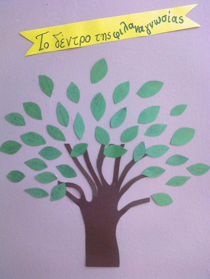 each leaf is a book that the kids have read!!  so this is an always growing bigger tree !