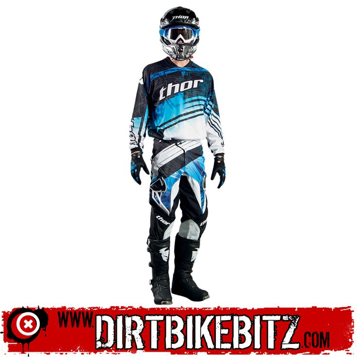 2014 Thor Phase Motocross Kit Combo - Swipe Blue - 2014 Thor Motocross Kit Combos - 2014 Thor Motocross Kit - 2014 Motocross