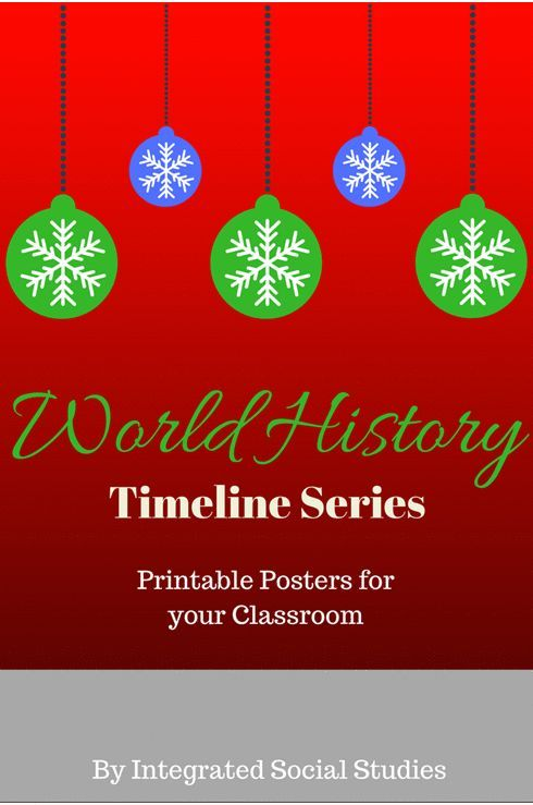 The entire World History Timeline Series includes the following: European, Chinese Dynasties, Japanese Dynasties, Indian Time Periods, Middle Eastern History, and Ancient Egypt.  When displayed together students are able to see how the different cultures divide their histories. There is nothing more annoying as a world history teacher when I talk about the ancient world and then try to transition to China and have to explain their history doesn't match the European timeline.