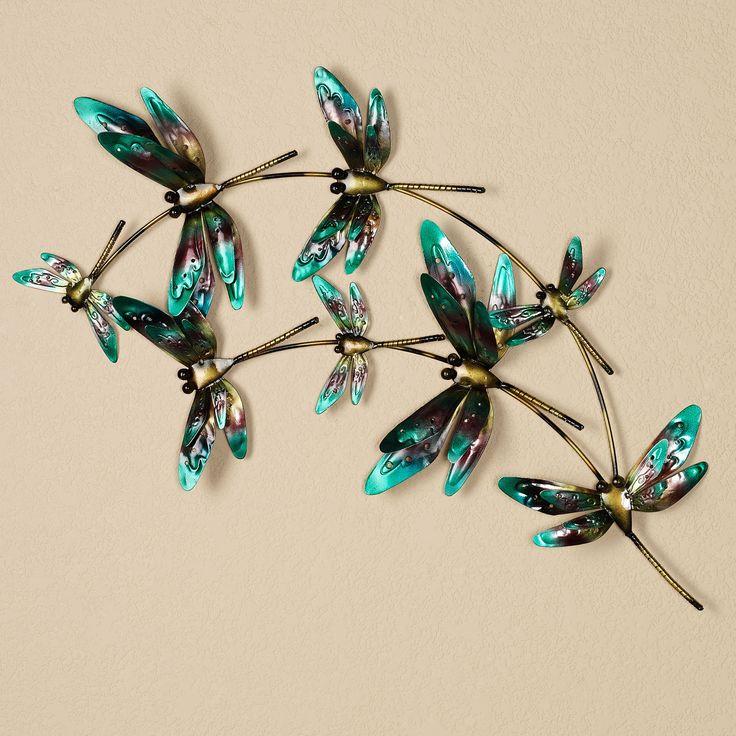 Metal Art Dragonfly Indoor Outdoor Metal Wall Art V741