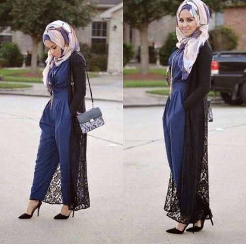 long lace cardigan hijab look, Hijab looks by Sincerely Maryam http://www.justtrendygirls.com/hijab-looks-by-sincerely-maryam/