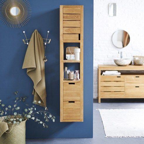 Nice Love this stylish and elegant slimline solid teak wood bathroom storage unit