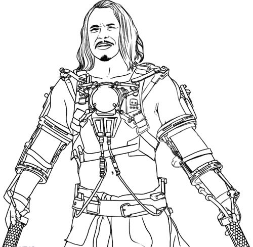 Whiplash Iron Man Coloring Pages