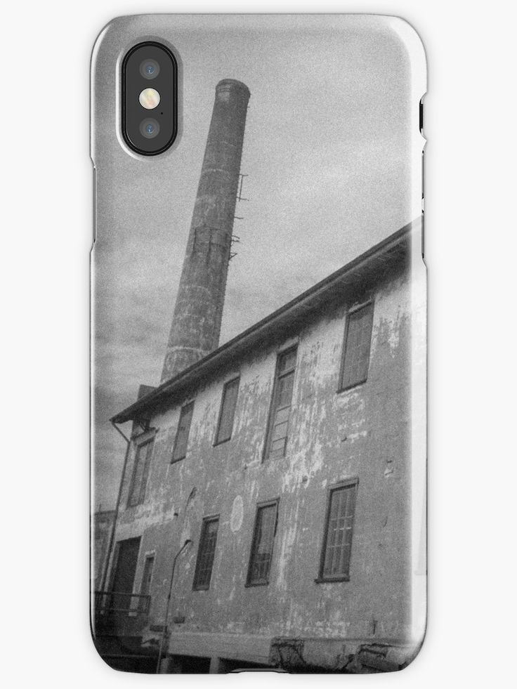 """""""Alcatraz Ruins: Storehouse and Power Plant Chimney"""" iPhone Cases & Skins by ThreeEyedKat 