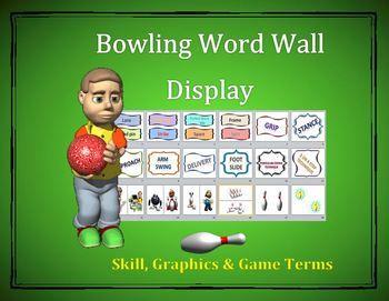 Bowling Word Wall Display: Skill, Graphics & Game Terms