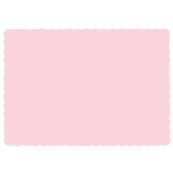 Sample of Pink Placemats 10 by 14 InchPink Paper by beachgrovelane