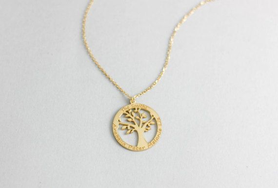 Tree of Life Necklace, Family Tree Silver Pendant, Custom Family Necklace, Personalized Necklace, Family Tree of Life, Mother Necklace, 0025