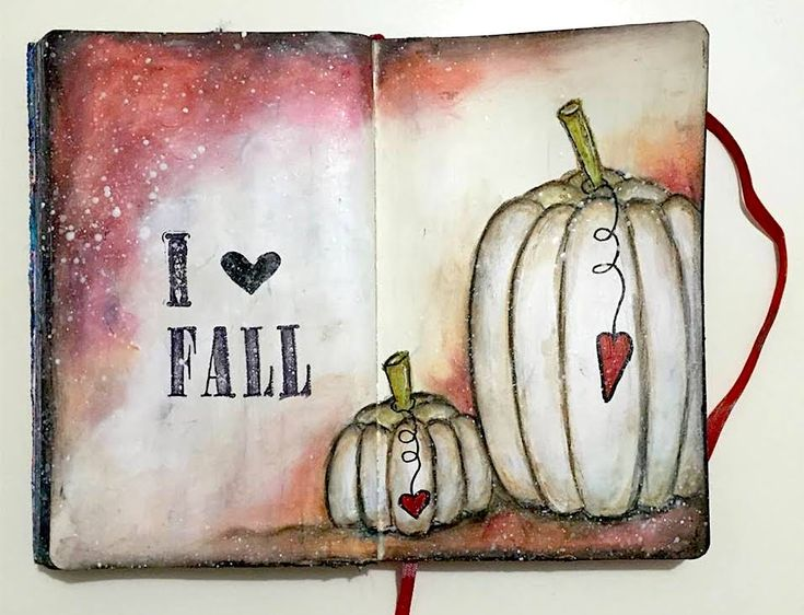 Fall Art Journal Page