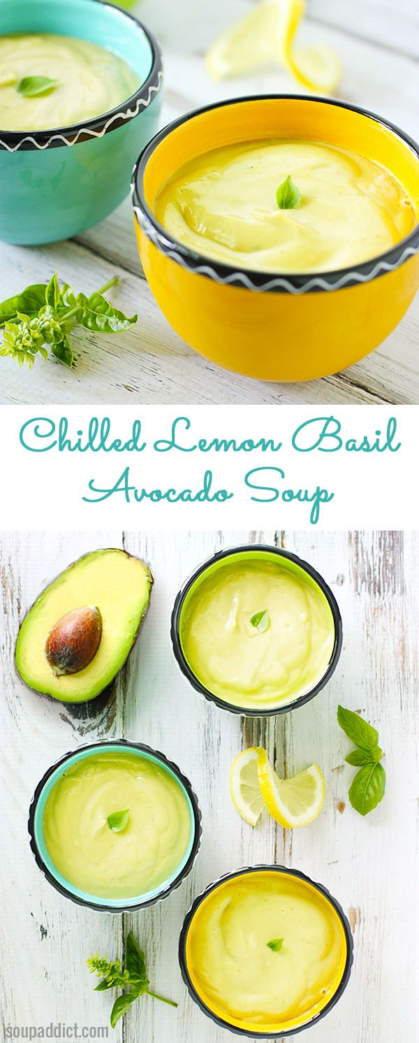 Keep your cool on the hottest days with chilled lemon basil avocado soup.