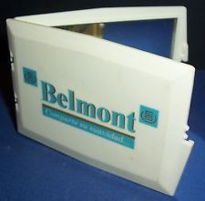 Nice 1980s Belmont cigarettes advertising pocket mirror