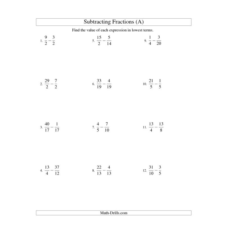 adding and subtracting fractions with unlike denominators worksheets pdf
