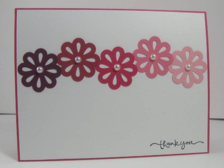 Lots of Punched Blossoms thank you cardPink Flower, Cards Flower, Scrapbook Cards, Cards Ideas, Scrapbooking Cards, Flower Cards, Paper Crafts, Scrapbooking Crafts, Purple Flower