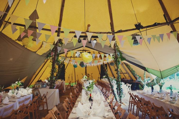 A cool tipi wedding (image: Browns Photography)