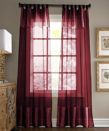 Loving this Burgundy Silk-Blend Curtain Panel on #zulily! #zulilyfinds