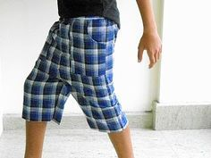 Sewing Patterns for Girls Dresses and Skirts: Boy's Shorts Sewing Pattern, Easy Bermuda Shorts Tutorial, Free Pattern