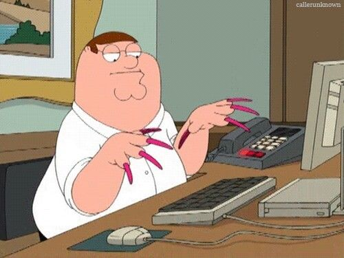 Peter Griffin's impression of me
