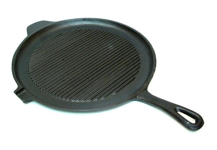 Old Mountain Cast Iron Preseasoned Round Griddle Grill Pan natural cookware for organic recipes