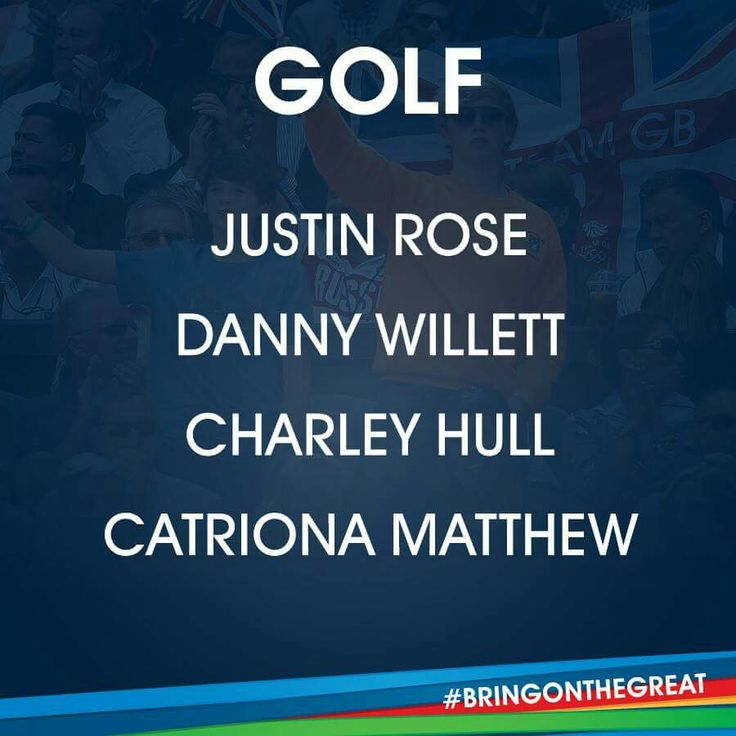 Golf Team GB Rio 2016