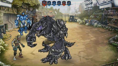 Premier boss à affronter dans mutants genetic Gladiators. :)