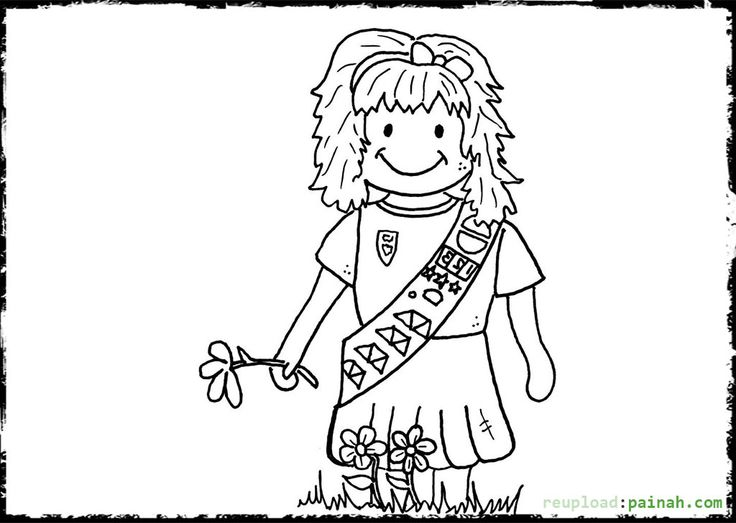 Brownie Girl Scouts Coloring Pages In Daisy Girl Scout Coloring Pages: 48 Best Images About Coloring Pages On Pinterest