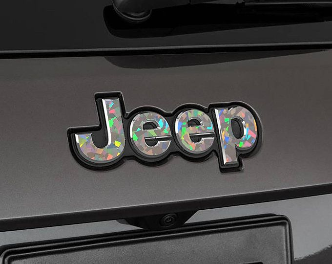 Holographic Set Of 2 Jeep Grand Cherokee Sequin Crystal Etsy