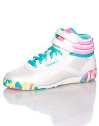 reebok kids freestyle hi classic shoes