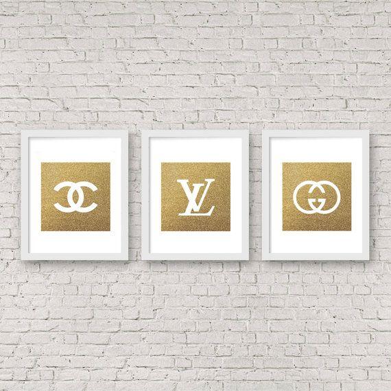 Chanel  Louis Vuitton  Gucci Set of three gold от SashkaMashka