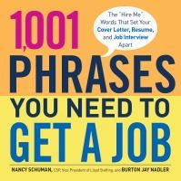 It's not enough to have the talent and experience to land the right job—you have to be able to put that talent and experience into words. With just the right phrase, you can highlight your achievements in your resume, make the cover letter pitch that sets you apart from the crowd, and underscore your unique skill set in the interview that lands you the job.