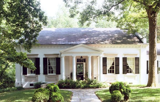 : Cottages Style, Dreams Home, Little House, Dreams House, Black Shutters, Curb Appeal, Small House, Southern Home, White House
